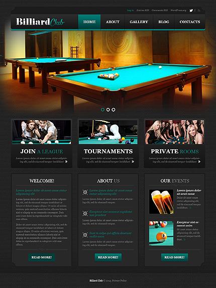 Stylish Billiard Club WordPress Theme