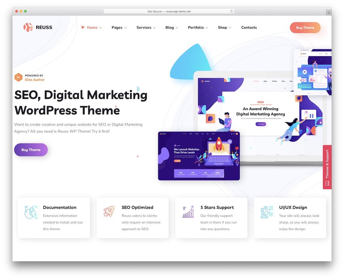 reuss seo agency wordpress theme