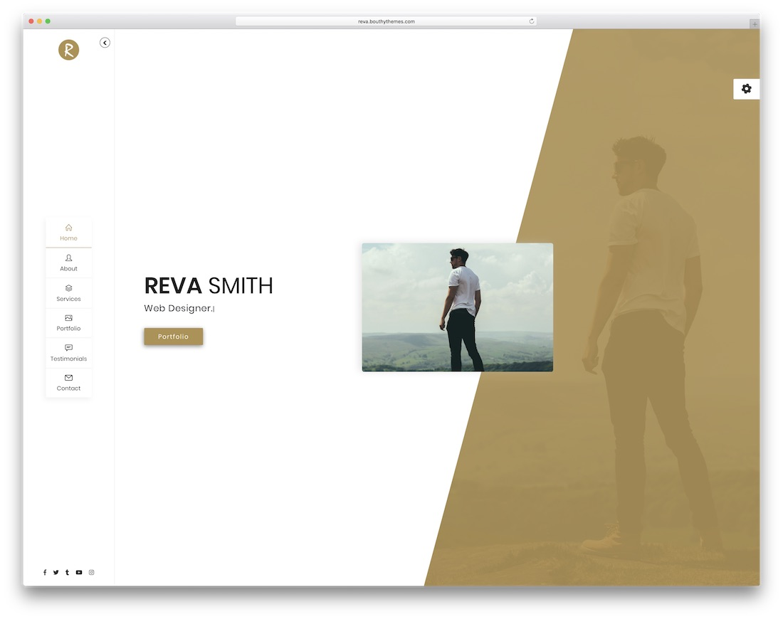 reva bootstrap personal website template