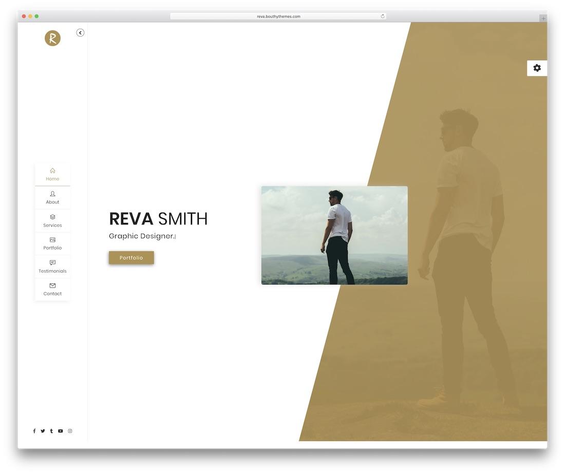 reva personal website template