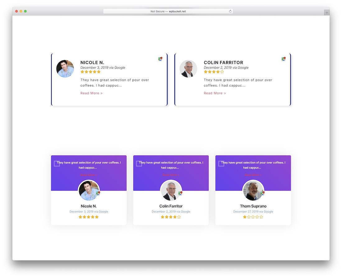 reviewbucket marketing plugin