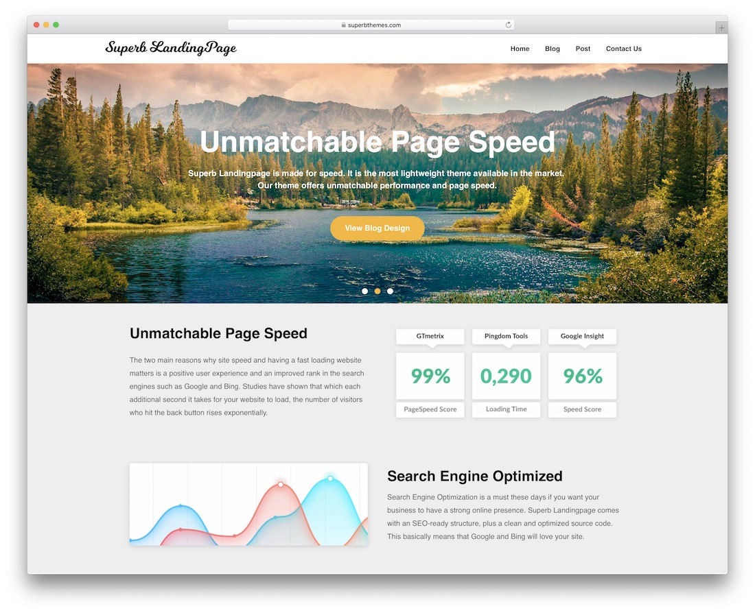 reviewers landing page free wordpress theme