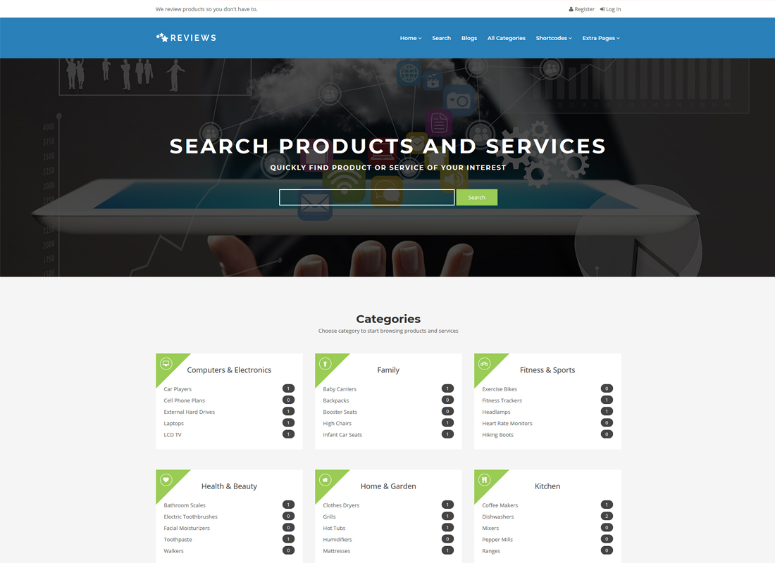 Reviews | Products And Services Review WordPress Theme