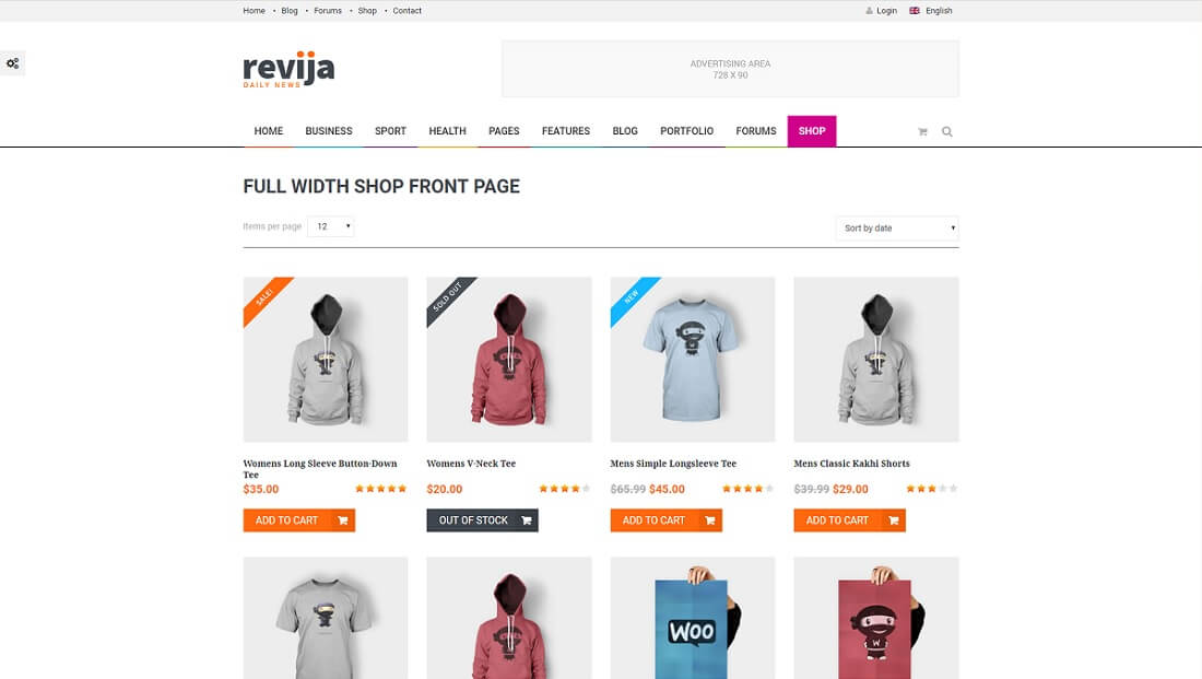 revija drupal commerce template