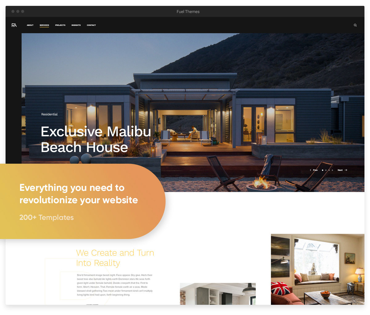 revolution architecture wordpress multipurpose theme