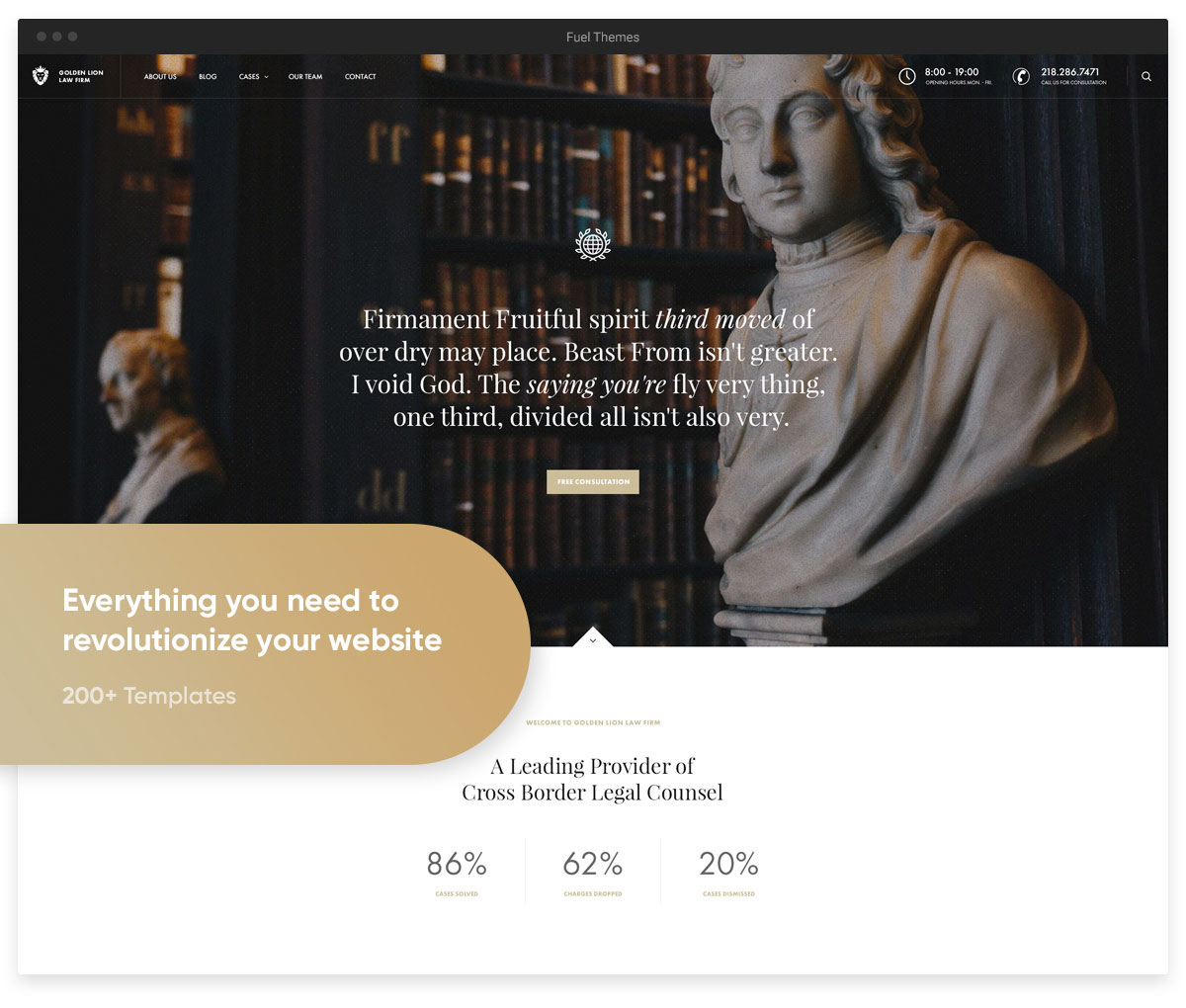 revolution law firm wordpress theme