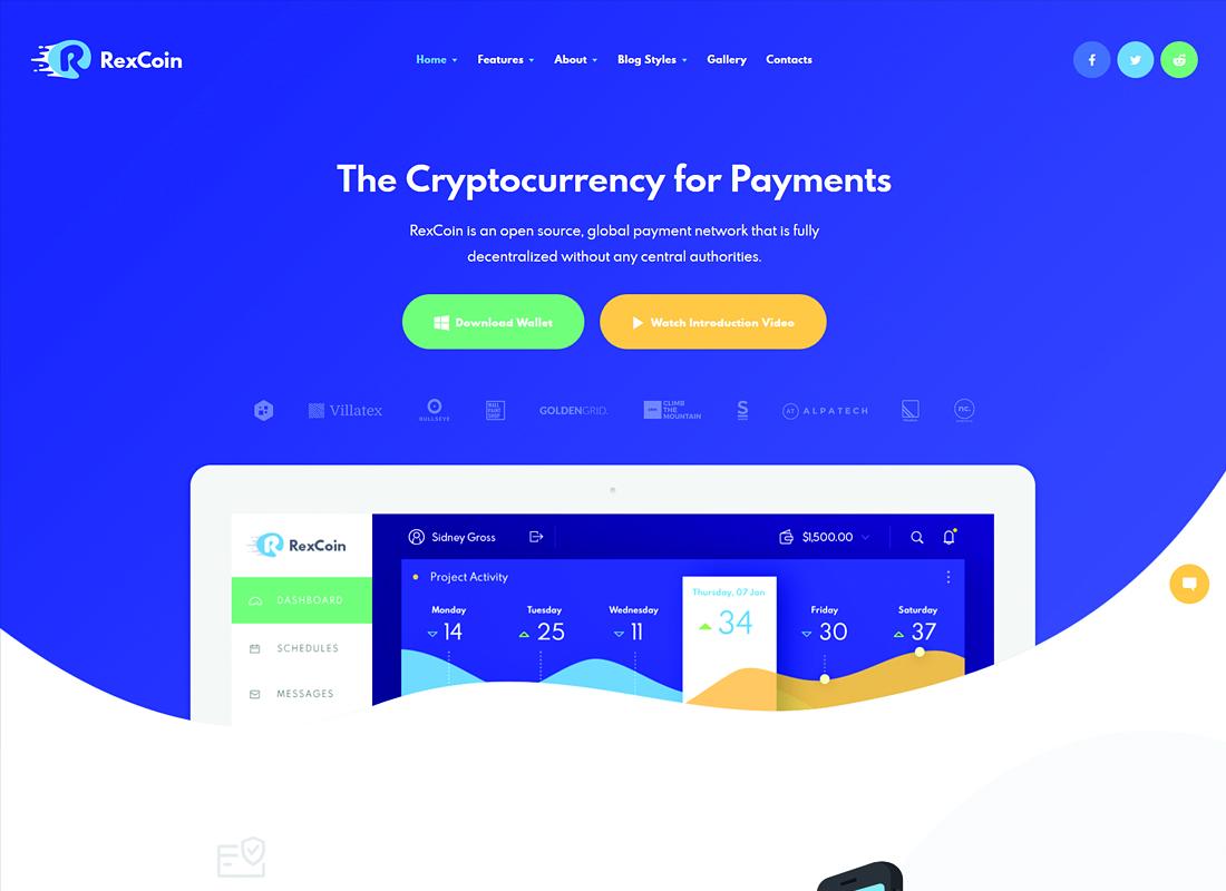 RexCoin   A Multi-Purpose Cryptocurrency & Coin ICO WordPress Theme