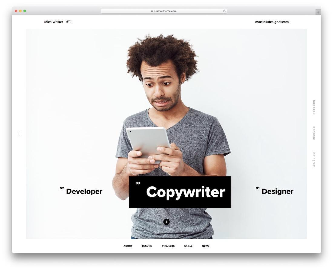 rezo fullscreen website template