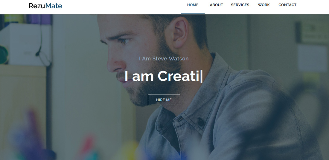 rezumate-bootstrap-personal-website-templates