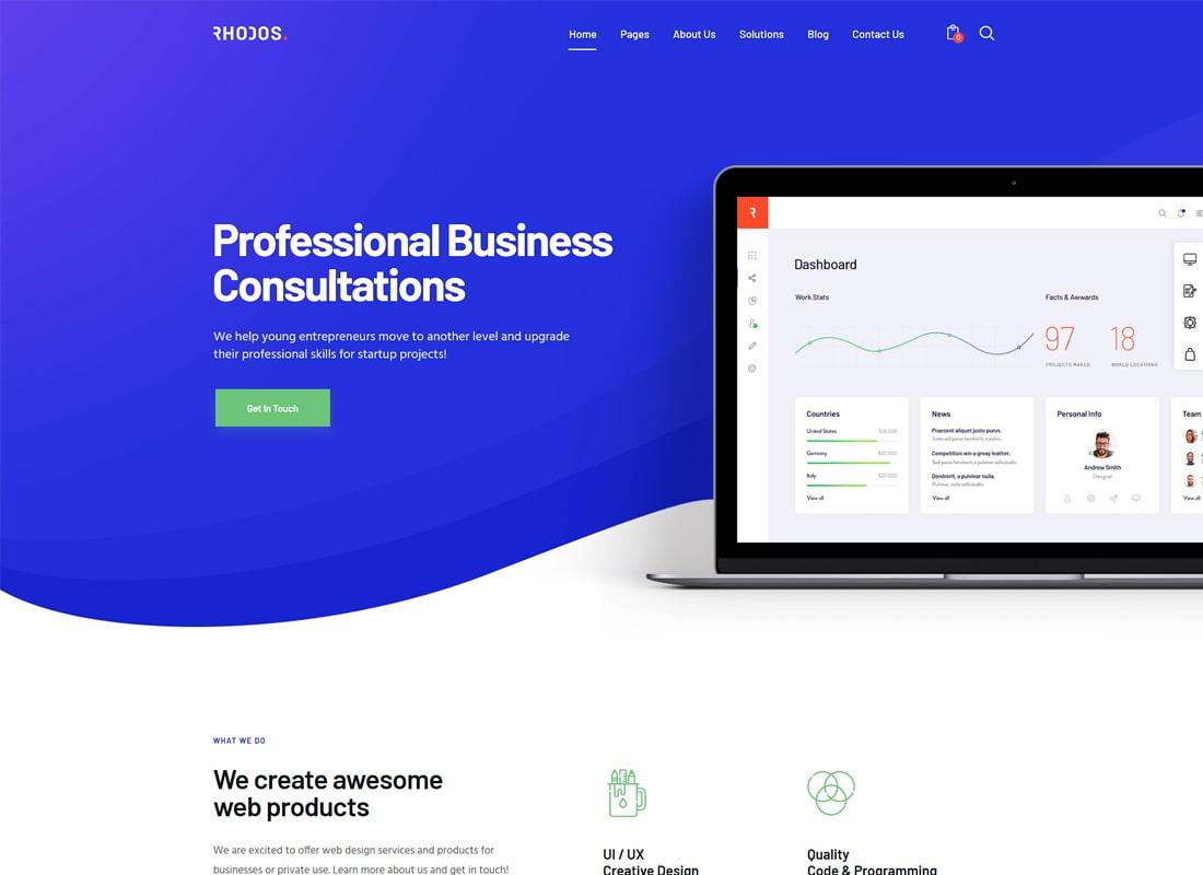 Rhodos | A Colossal Multipurpose Business & Portfolio WordPress Theme