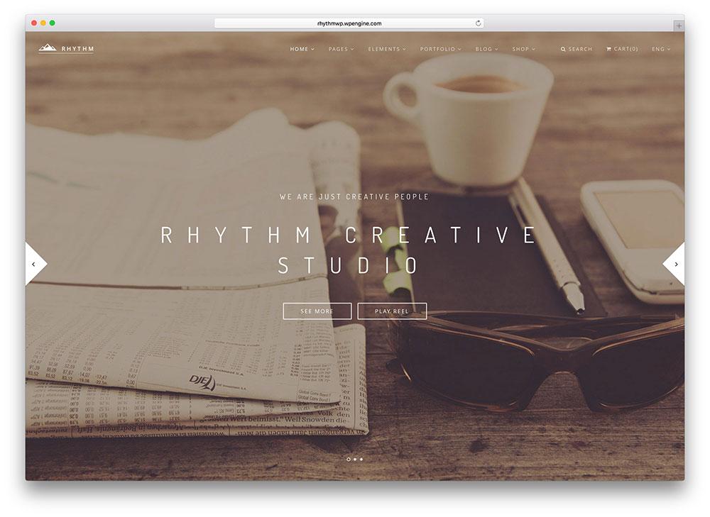 rhythm - fullscreen hipster theme
