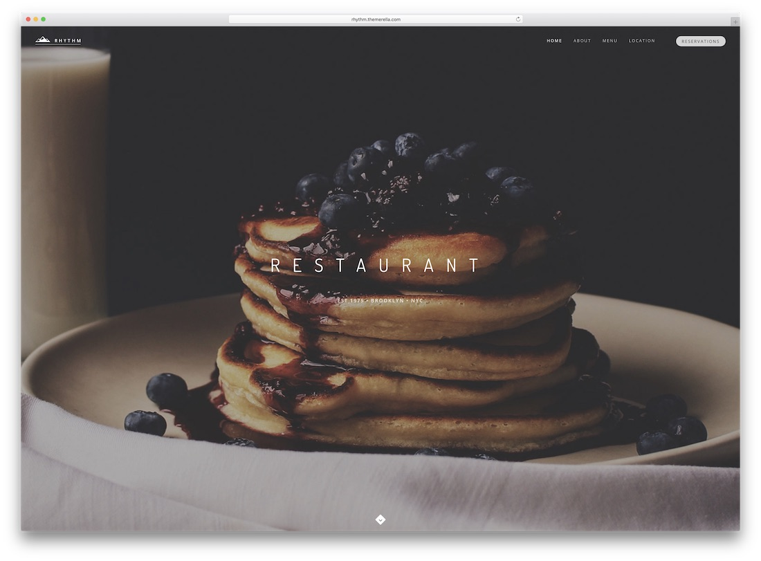 rhythm responsive catering wordpress theme