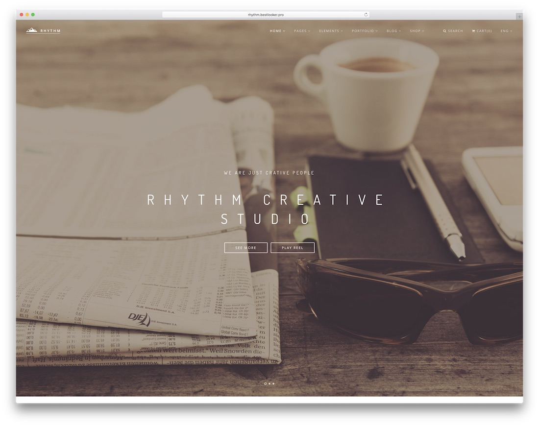 rhythm interactive website template