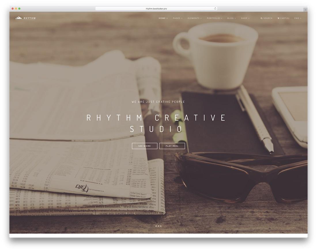 rhythm interactive website template