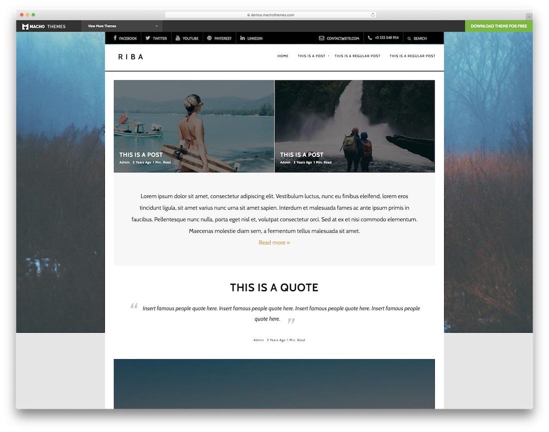 riba lite free html5 website template