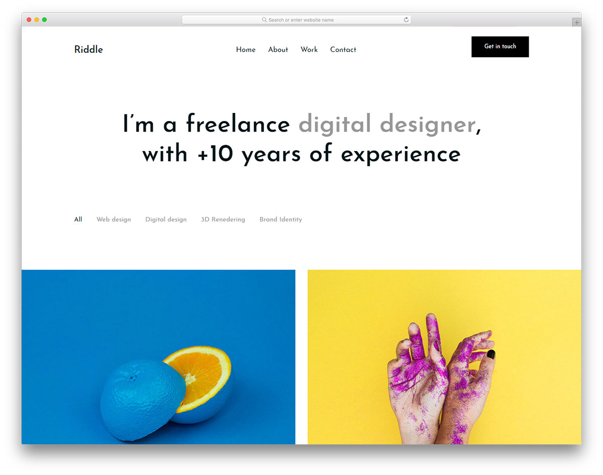 Riddle free gallery template
