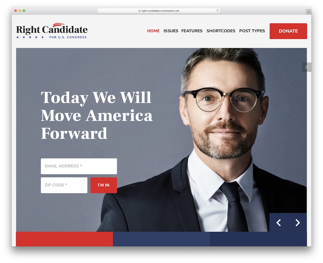 right candidate political wordpress theme