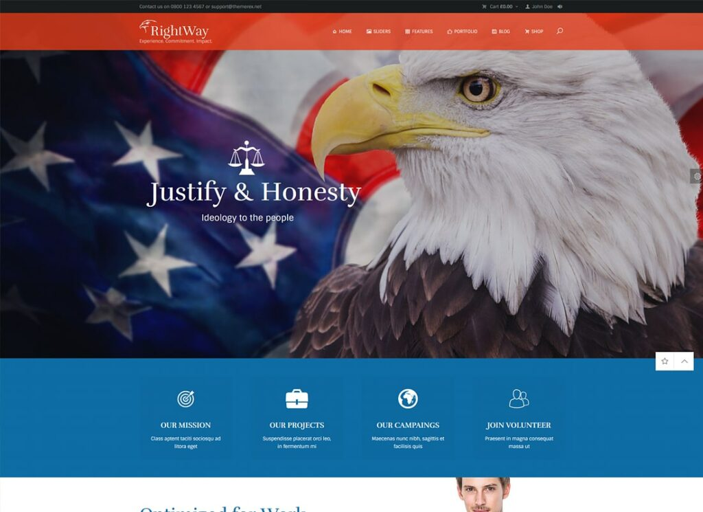 Right Way | Election Campaign and Political Candidate WordPress Theme