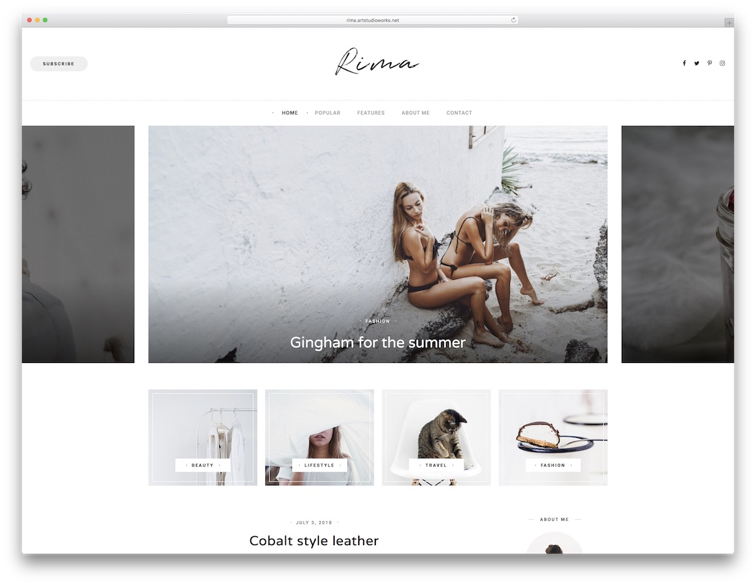rima cheap wordpress theme