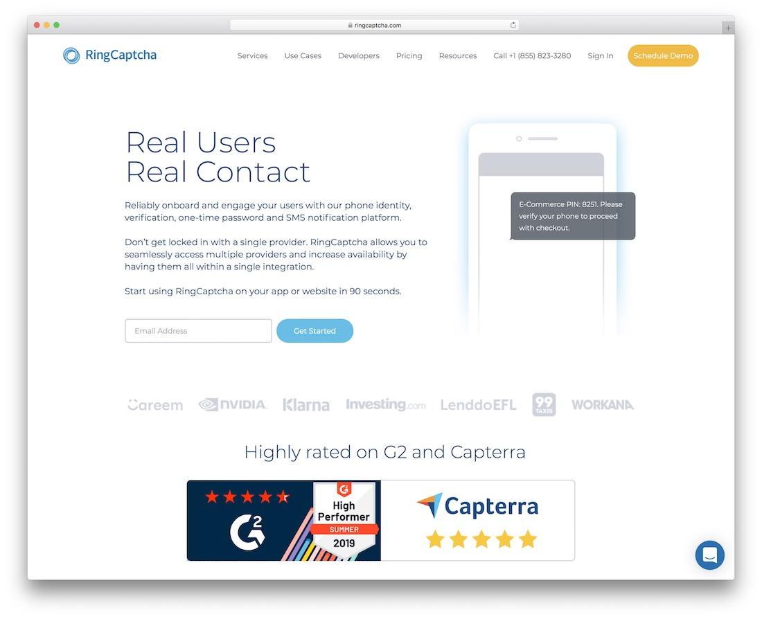 ringcaptcha security tool
