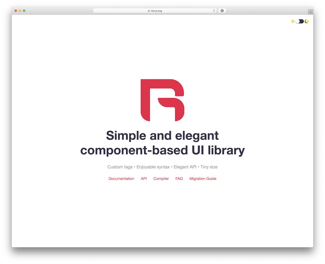 riot.js javascript framework