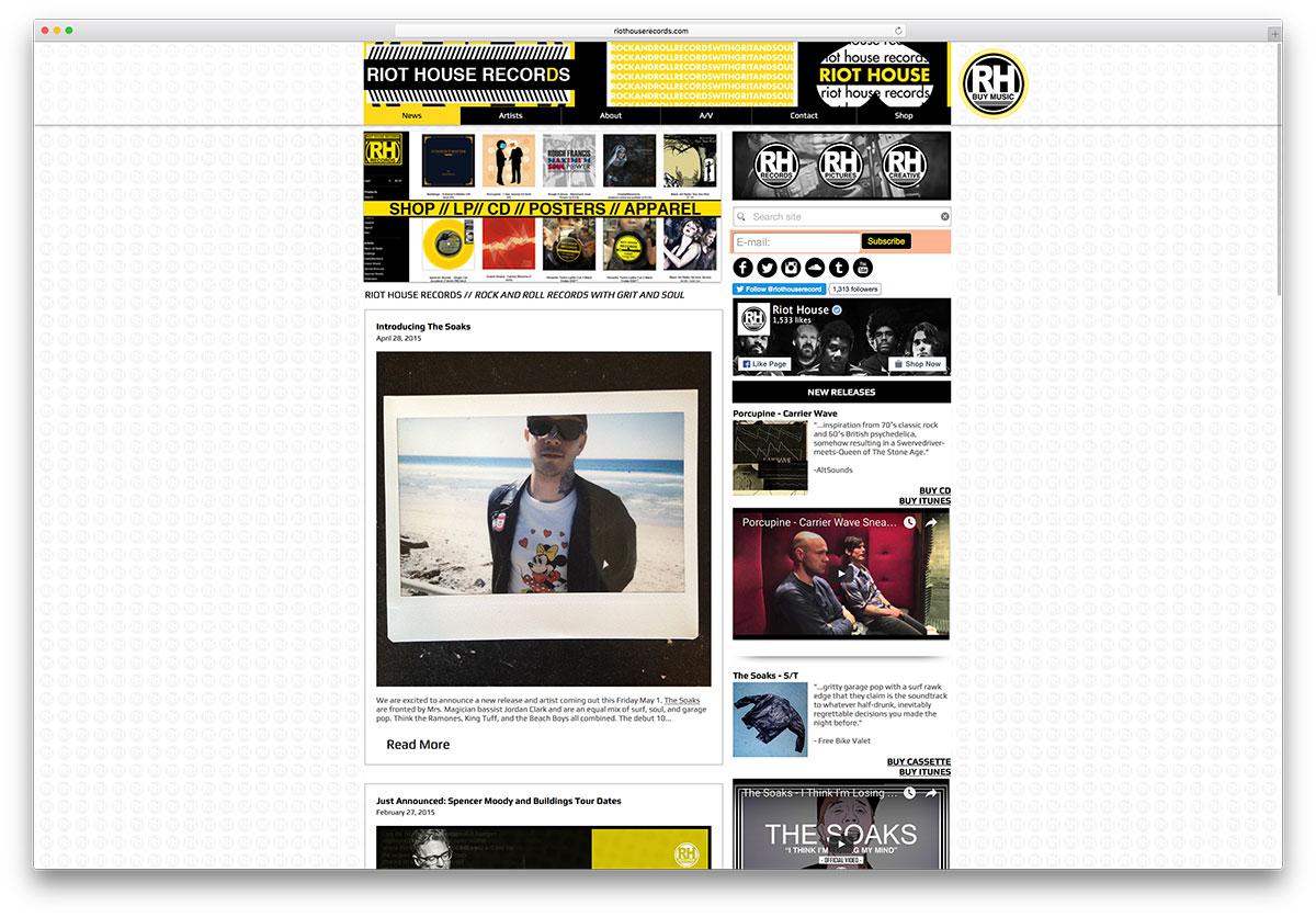 riothouserecords-music-websie-using-wix-builder