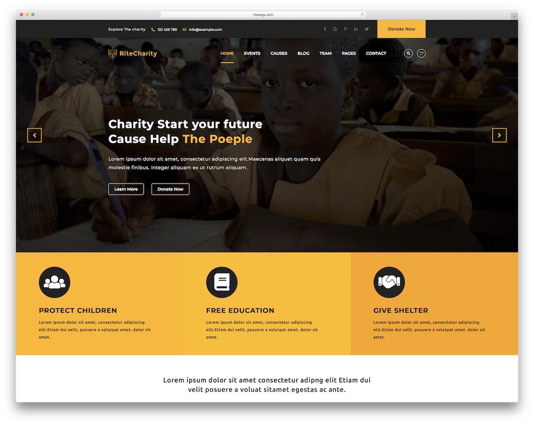 rite website template