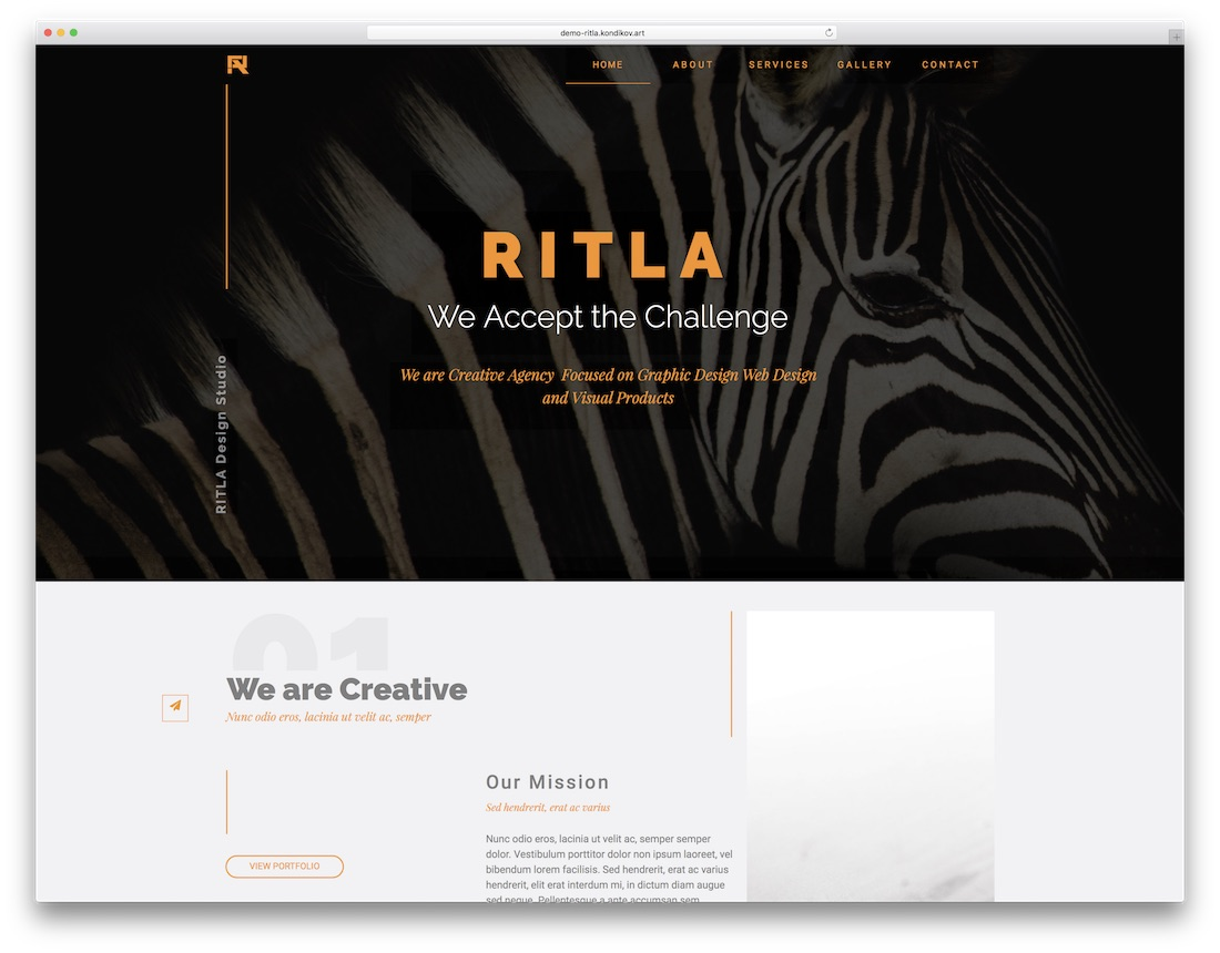 ritla adobe muse template