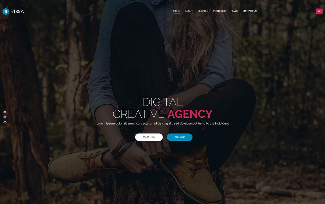 riwa designer website template