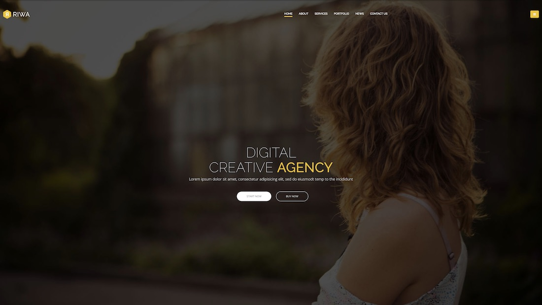 riwa professional website template