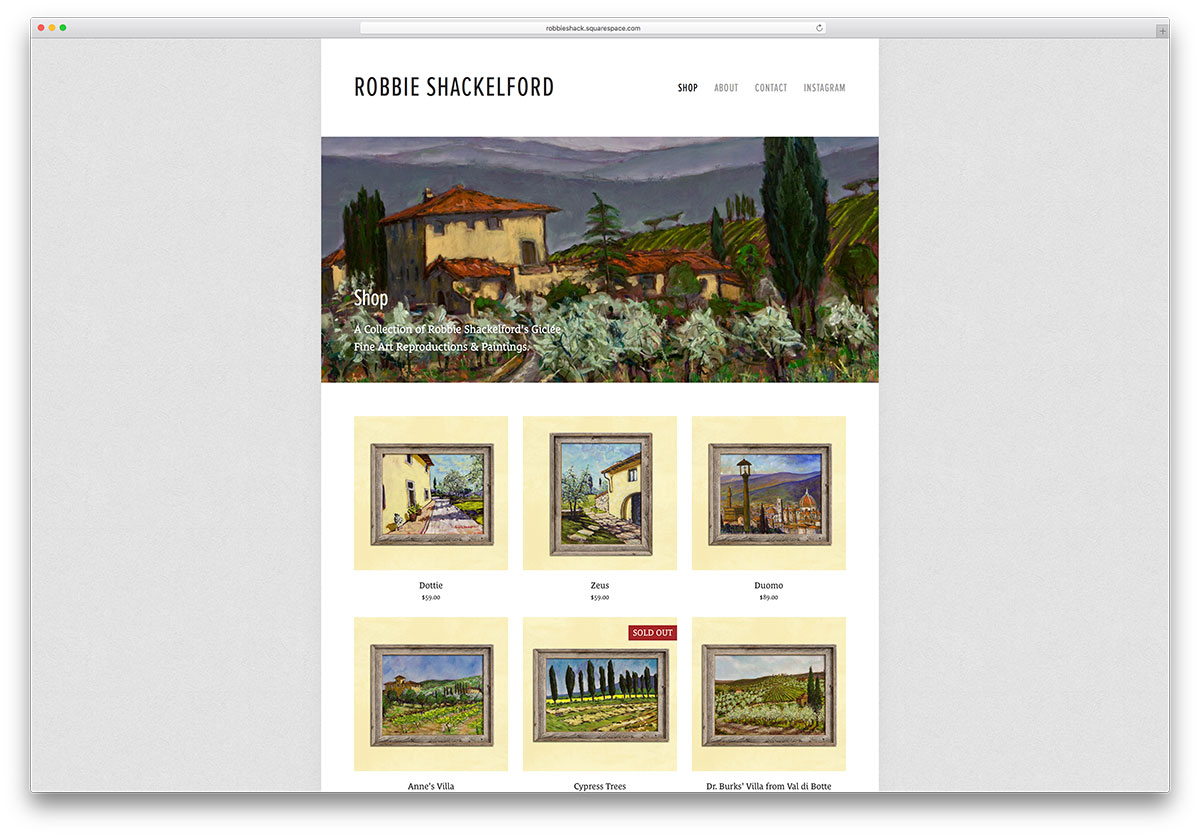 robbieshack-squarespace-art-ecommerce-website