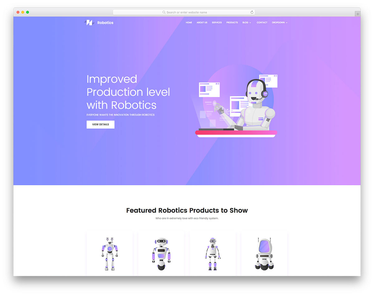 Robotics - Free Robots & Science Website Template - Colorlib