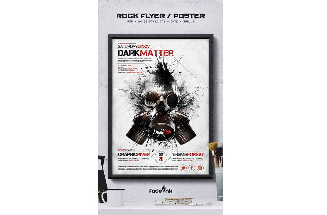 rock flyer poster invitation template