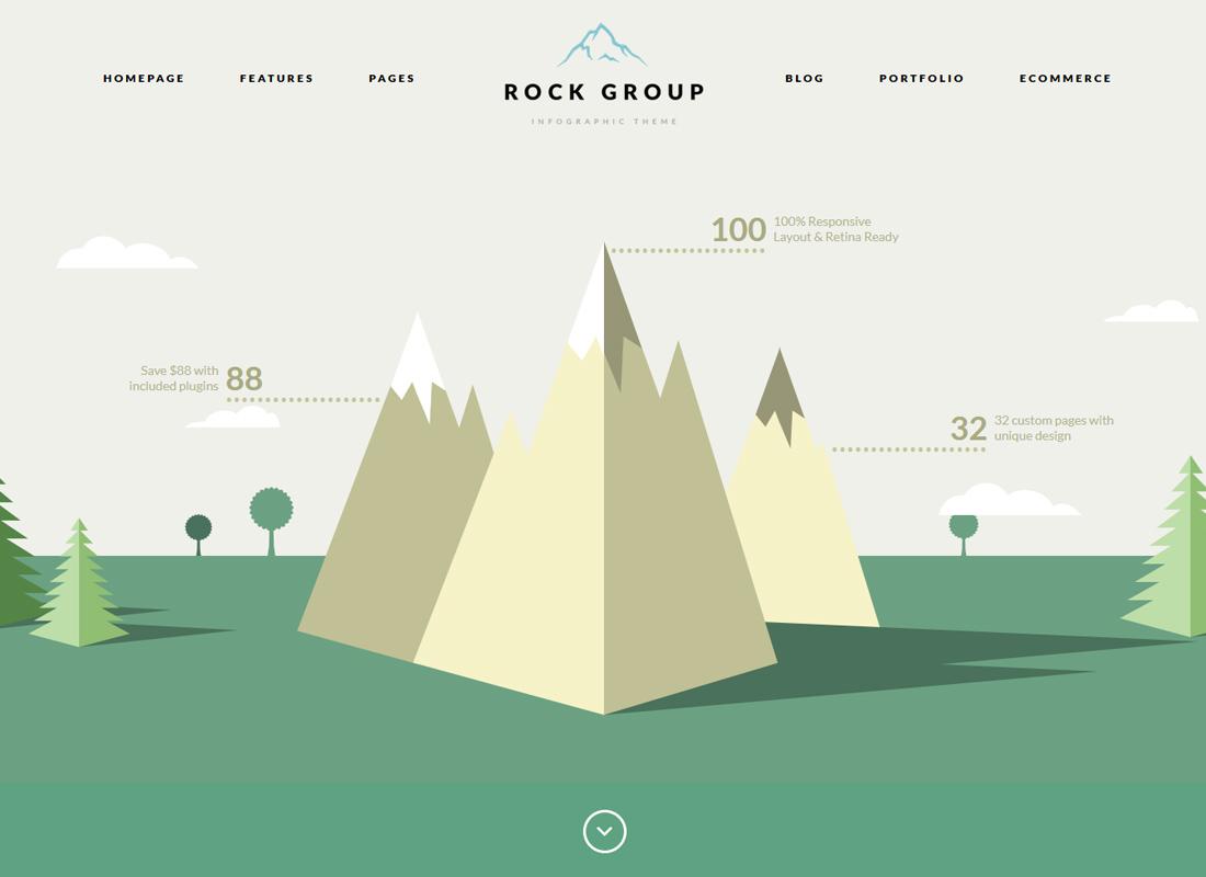 Rock Group | A Flat Multipurpose Infographic WordPress Theme