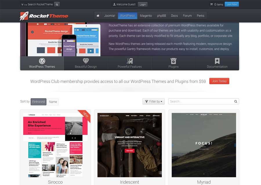 rockettheme-parallax-wordpress-designs