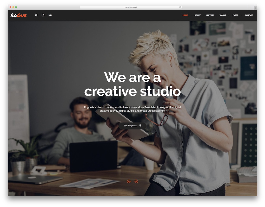 24 Creative Adobe Muse Templates For Stunning Websites 2019 - Colorlib