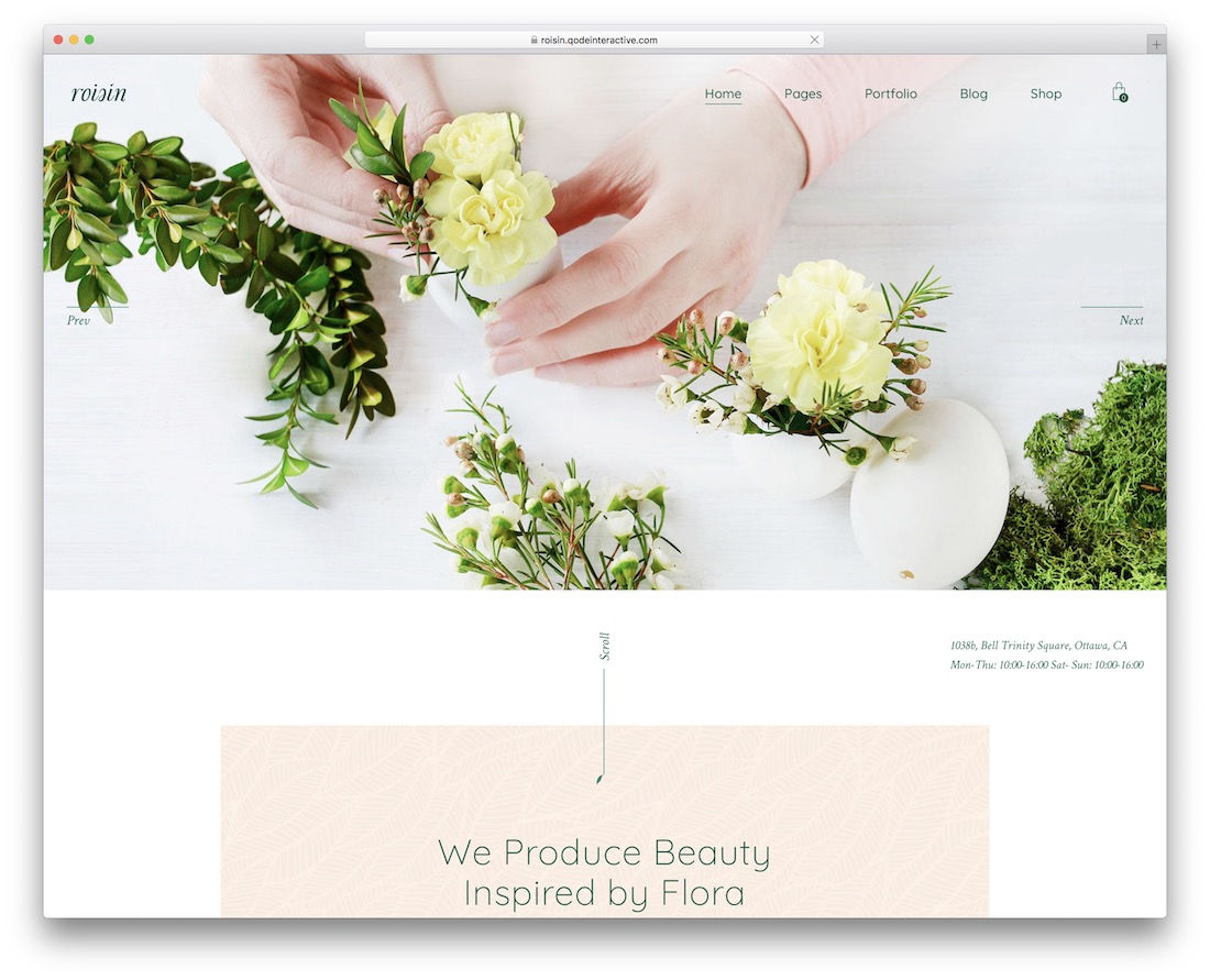 roisin flower wordpress theme