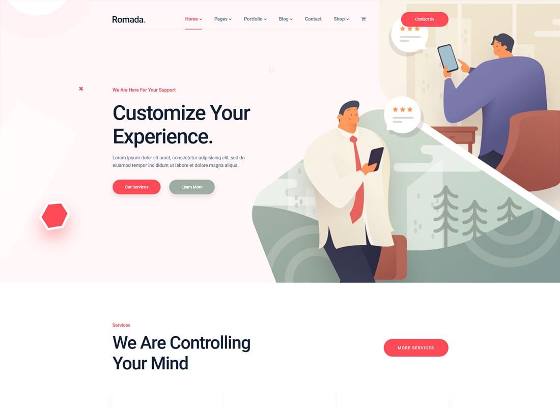 Romada | Startup Agency WordPress Theme