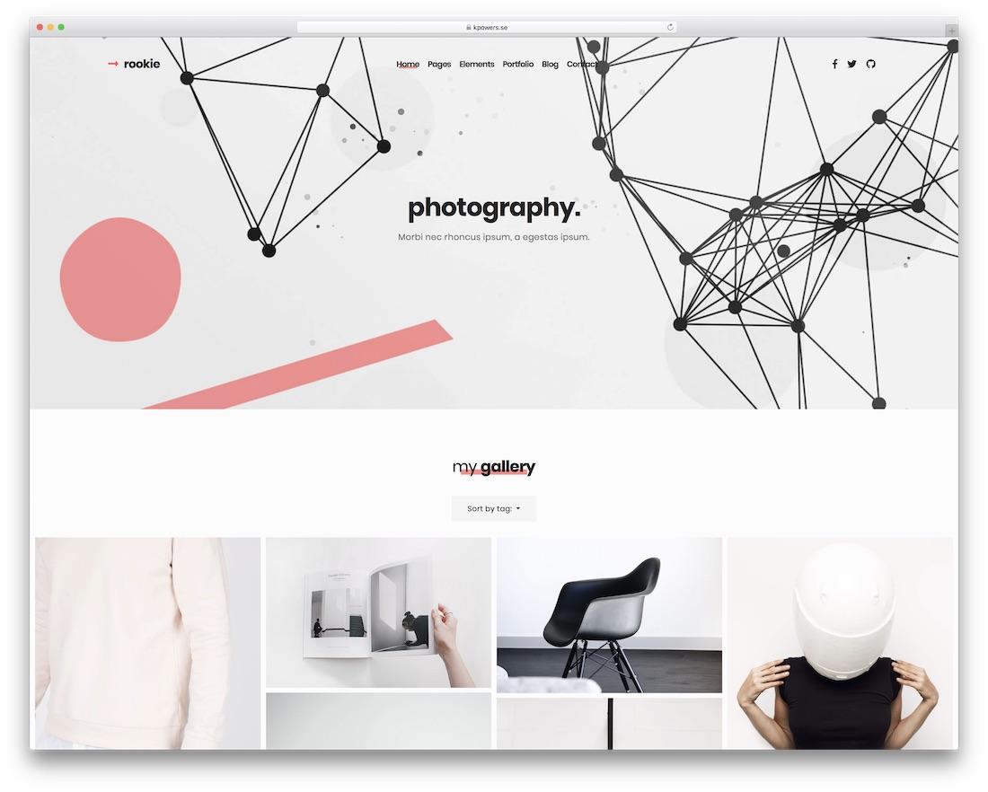 rookie beautiful website template