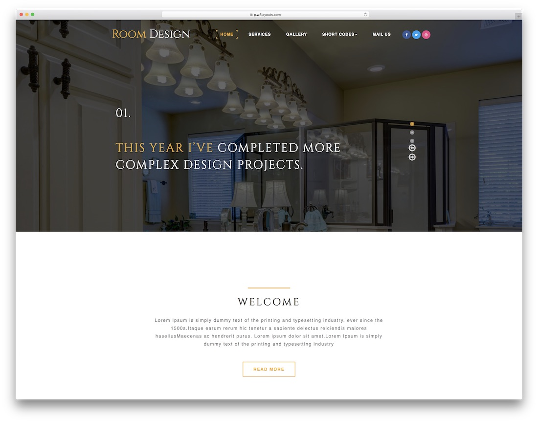 room design website template