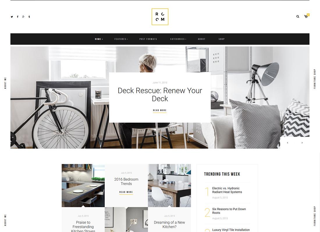 ROOM - A Refined Interior Design Blog & Furniture Shop WordPress Theme