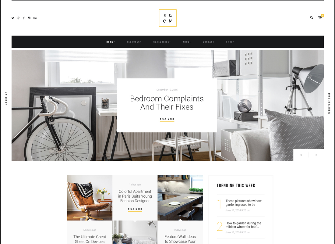 ROOM | A Refined Interior Design Blog & Furniture Shop WordPress Theme