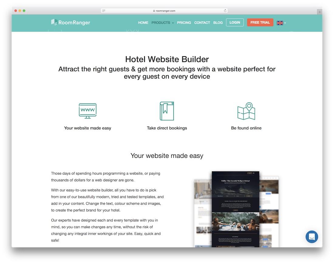 roomranger hotel website builder