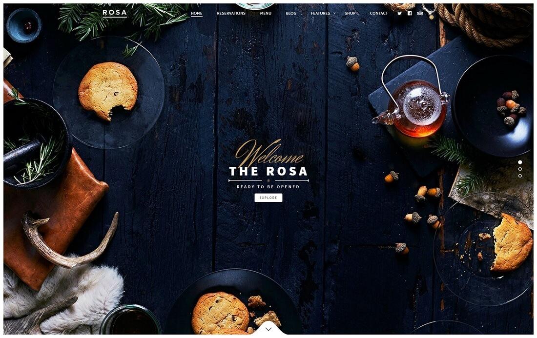 rosa catering wordpress theme