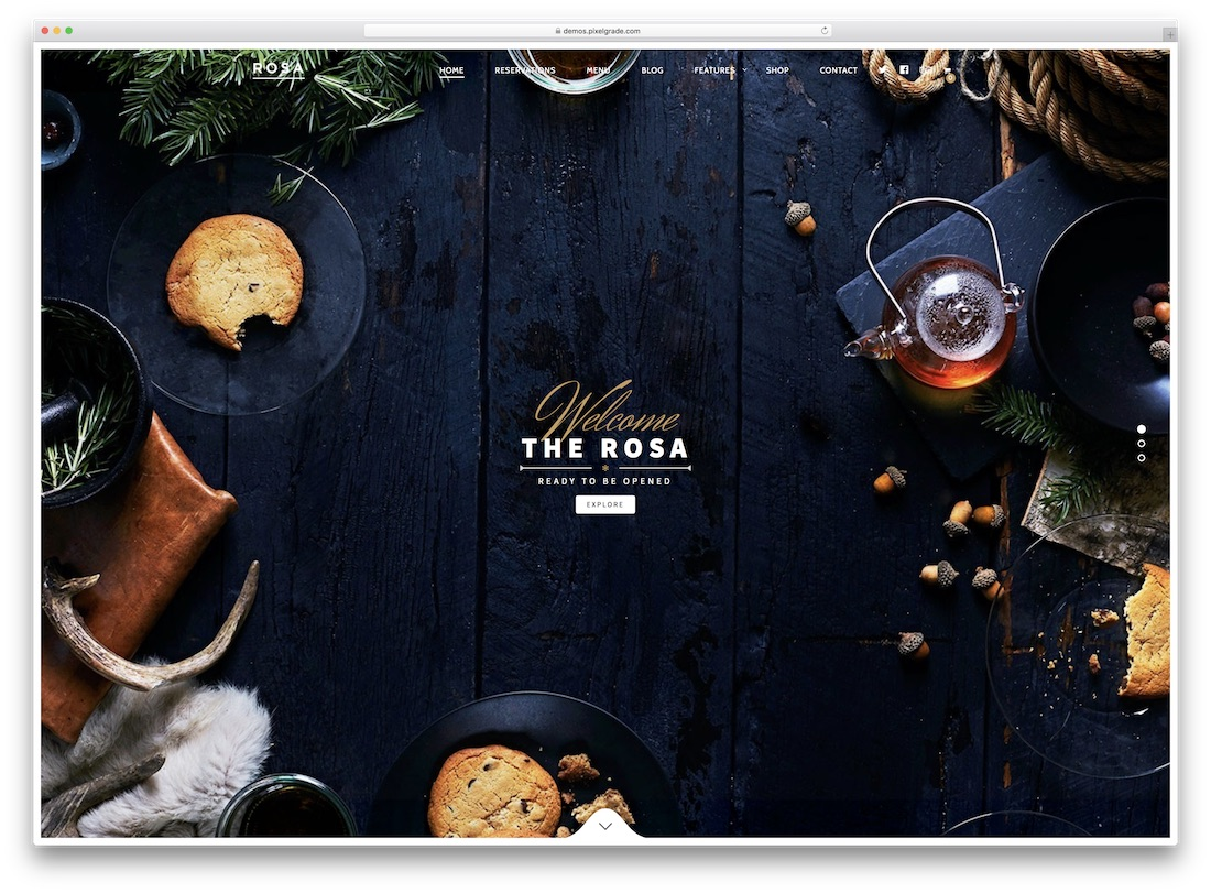 rosa responsive catering wordpress theme