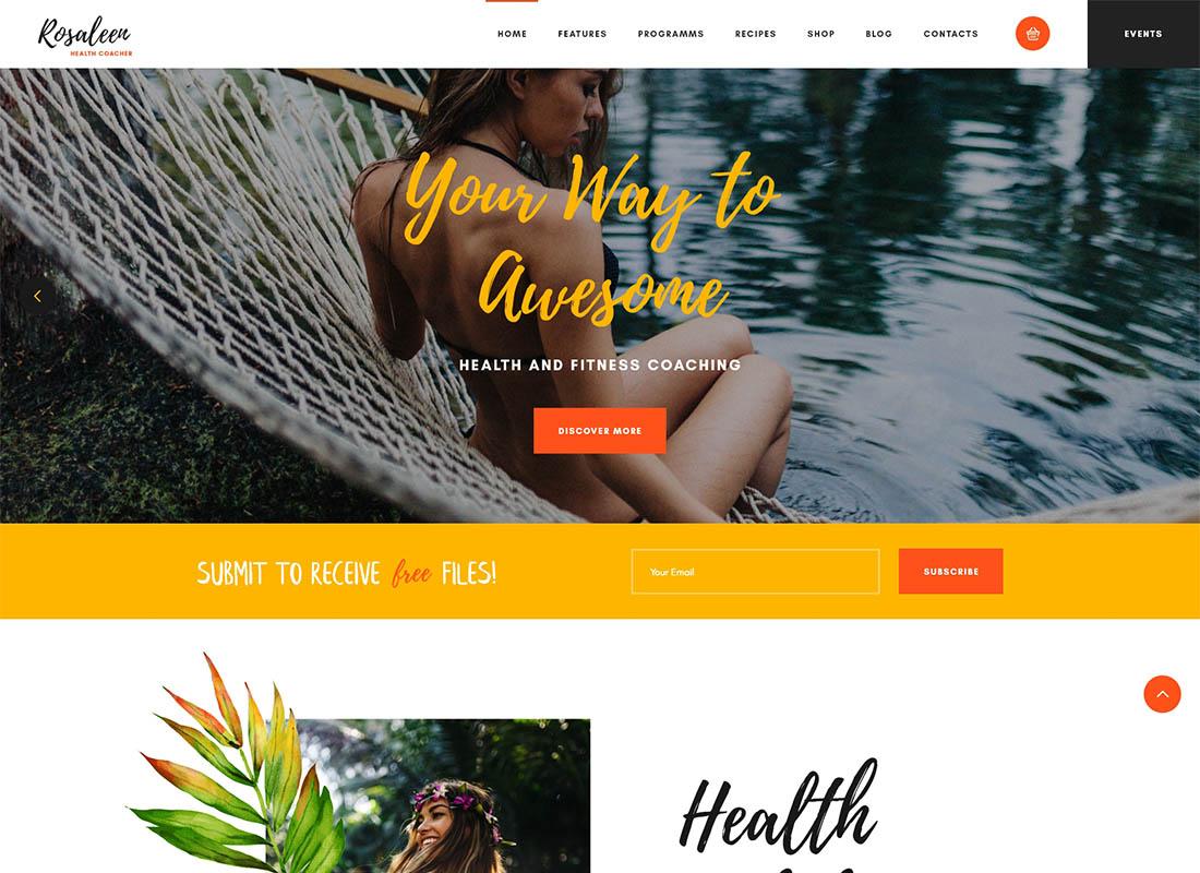 Rosaleen - Health Coach, Speaker & Motivation WordPress Theme