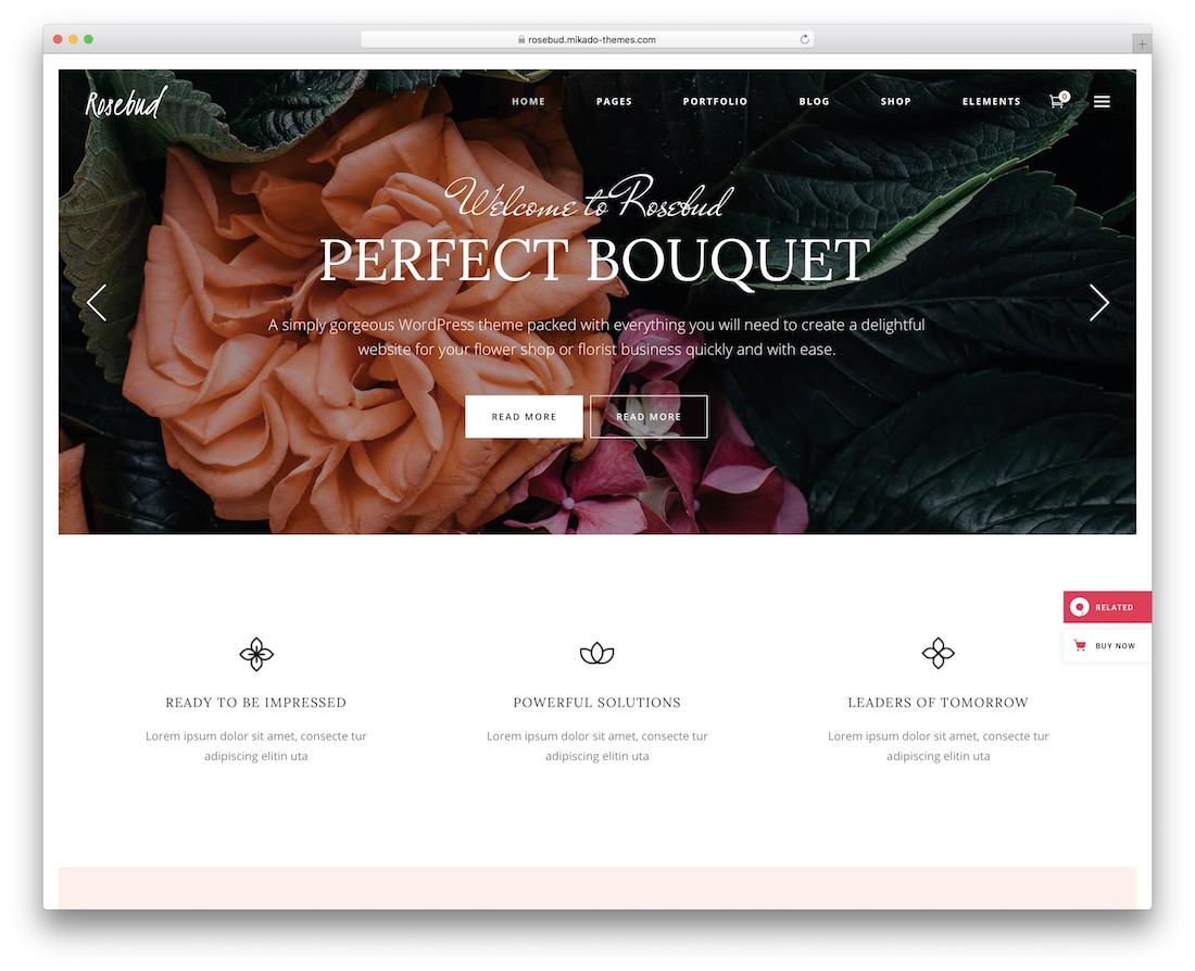 rosebud flower website template