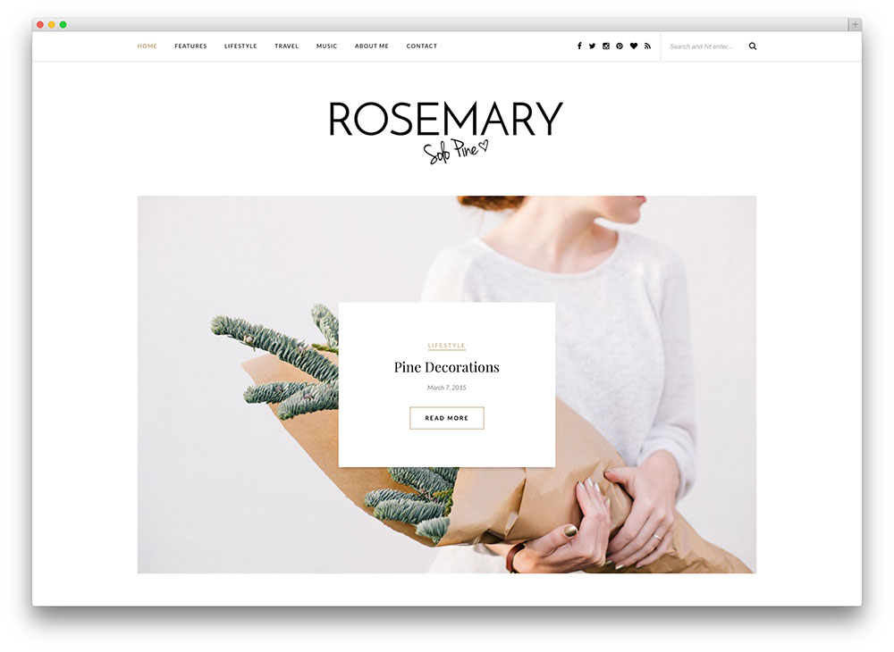 rosemary - minimal blogging theme