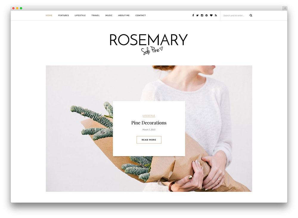 rosemary - minimal blogging theme