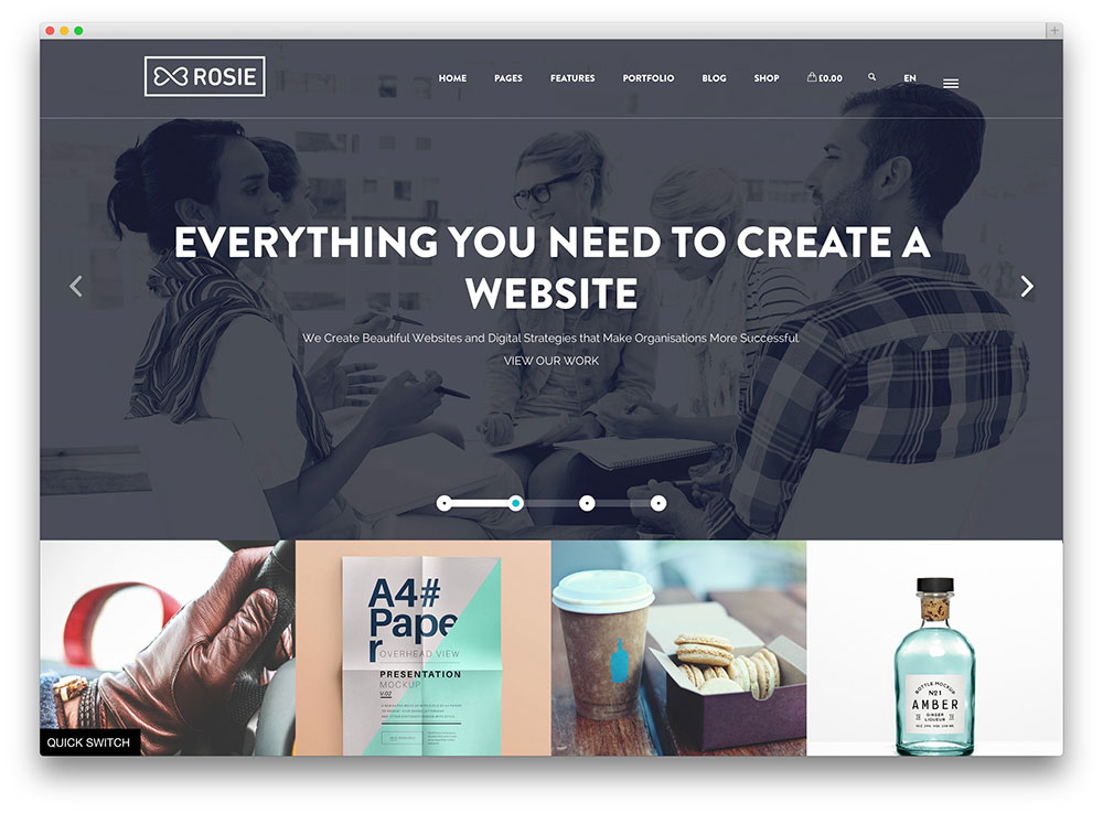 rosie crisp creative wordpress portfolio theme
